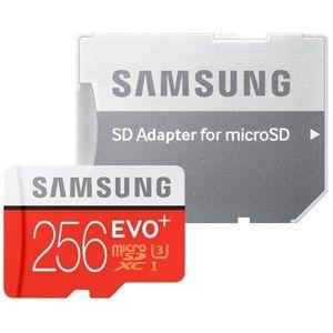 Foto van Samsung 256GB microSD EVO Plus 100MB/s met adapter