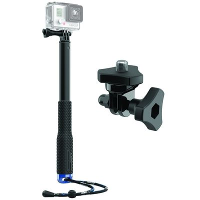 Foto van SP POV Pole 36 Inch Black + Tripod Screw Adapter Universal Bundle