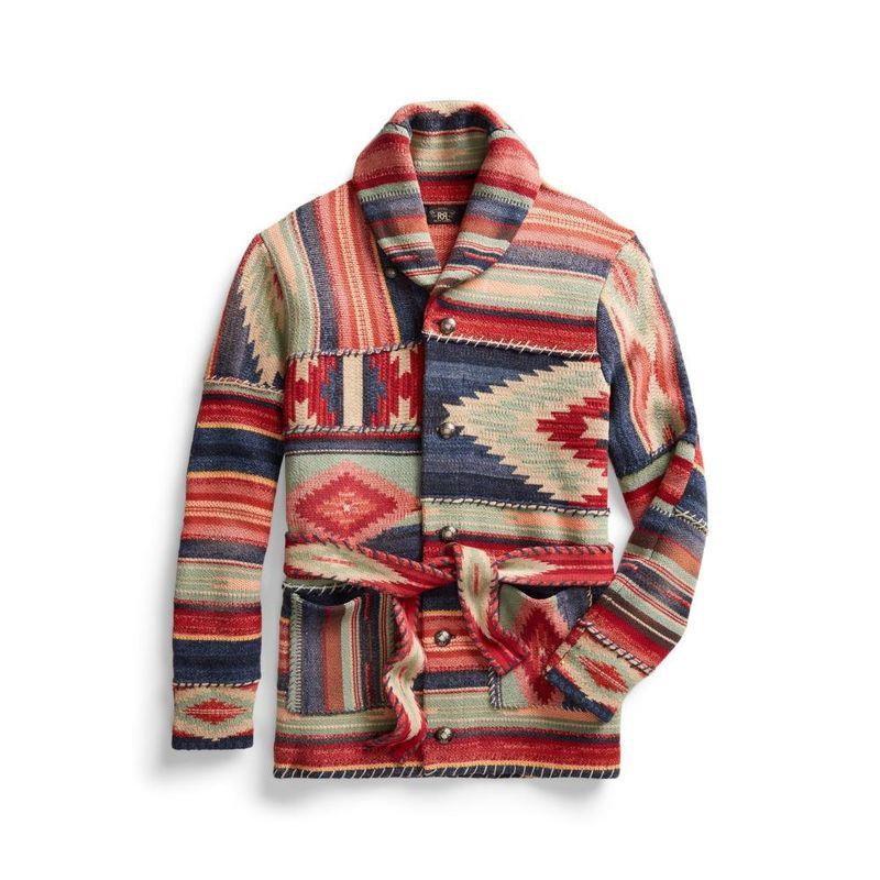 Ralph Lauren RRL Ptch Swl Crd Knitted