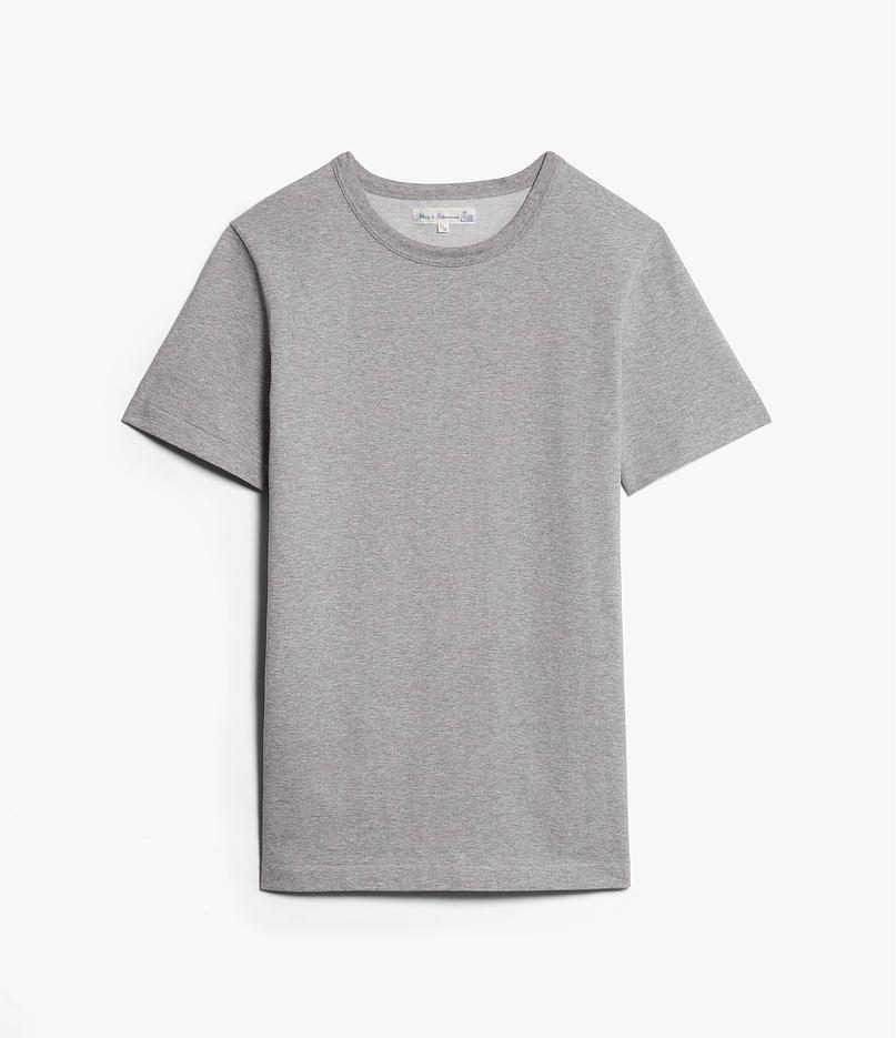 Merz b. Schwanen 215 Grey Melange T-Shirt