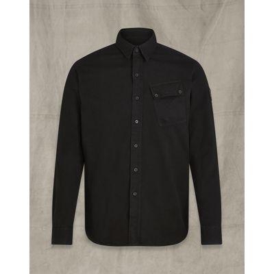 Foto van Belstaff Pitch twill shirt Black