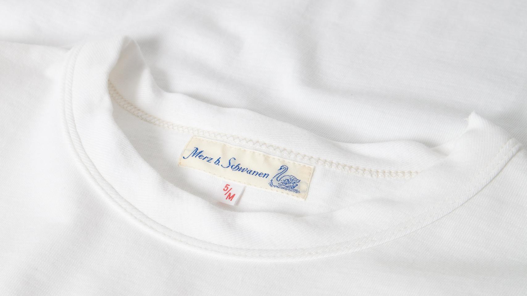 Afbeelding van Merz b. Schwanen 214 White T-shirt