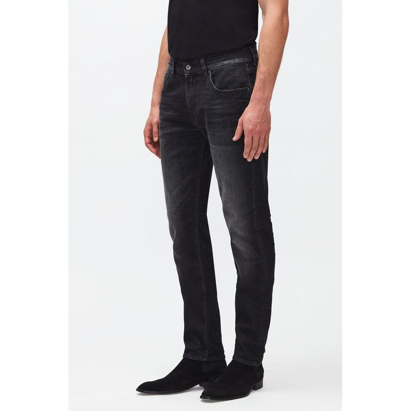 7 For All Mankind Slimmy Tapered Cashmere Washed Black