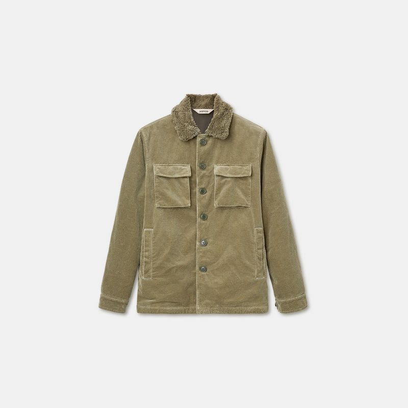 Aspesi Cord Jacket Olive
