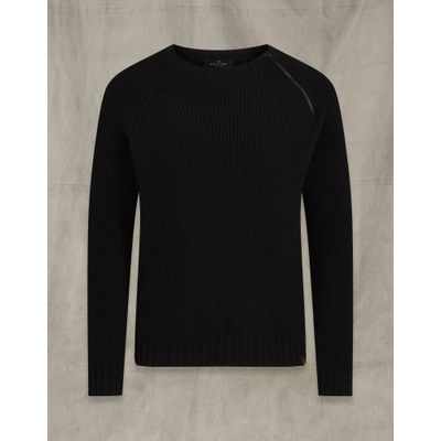 Foto van Belstaff Fishermans Rib Crew Neck Black