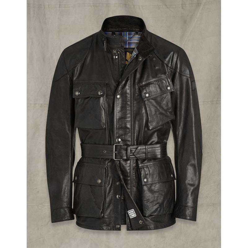 Belstaff Trialmaster Panther 2.0 Leather Jacket Black