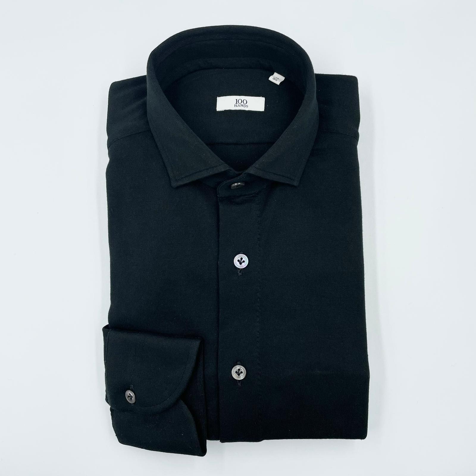 100 hands Jersey Shirt Black