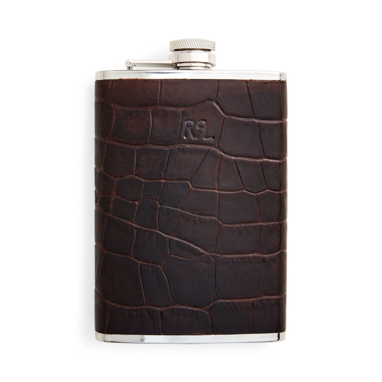 Ralph Lauren RRL Flask-Travel-Embossed Leather