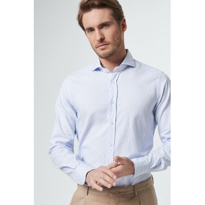 Foto van Windsor Casual Shirt fine stripe blue