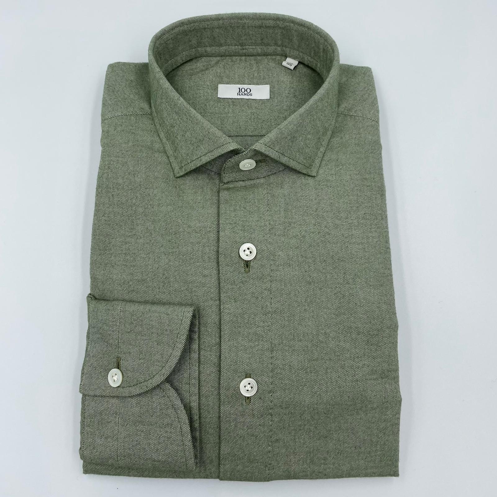 100 Hands Green Flannel