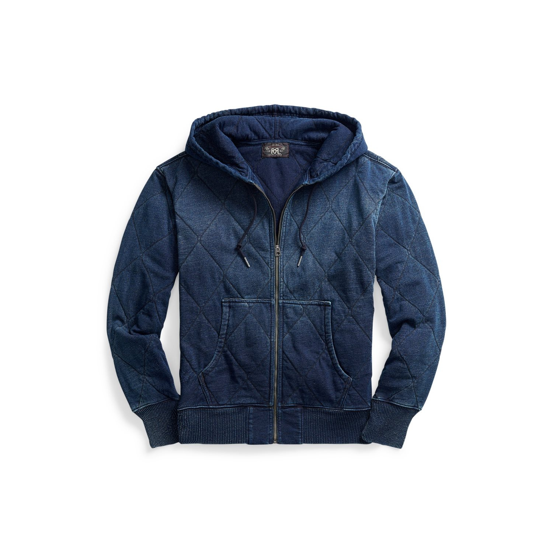 Ralph Lauren RRL Hooded Vest Zip Navy