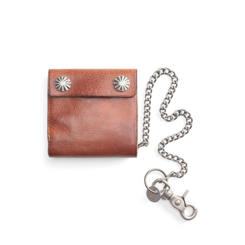 Ralph Lauren RRL Tumbled Leather Chain Wallet