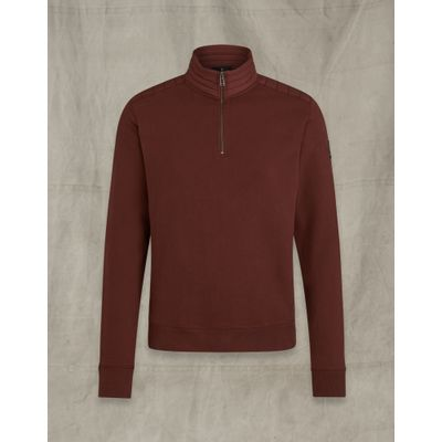 Foto van Belstaff Jaxon Quarter Zip Bordaux Red
