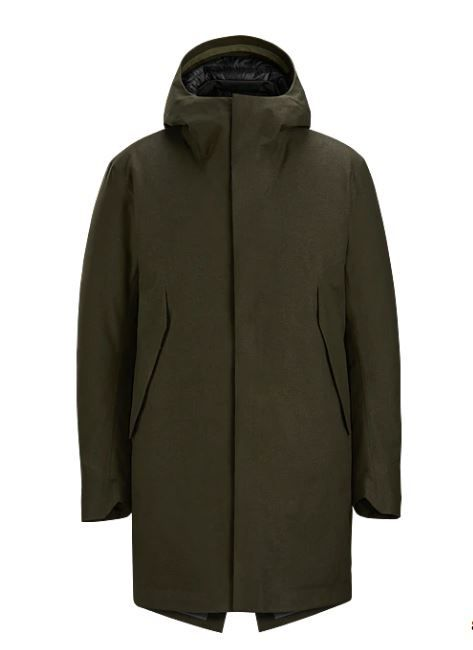 Veilance Monitor Down Coat Olive Heather