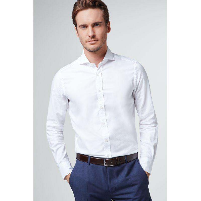 Windsor White Casual Shirt