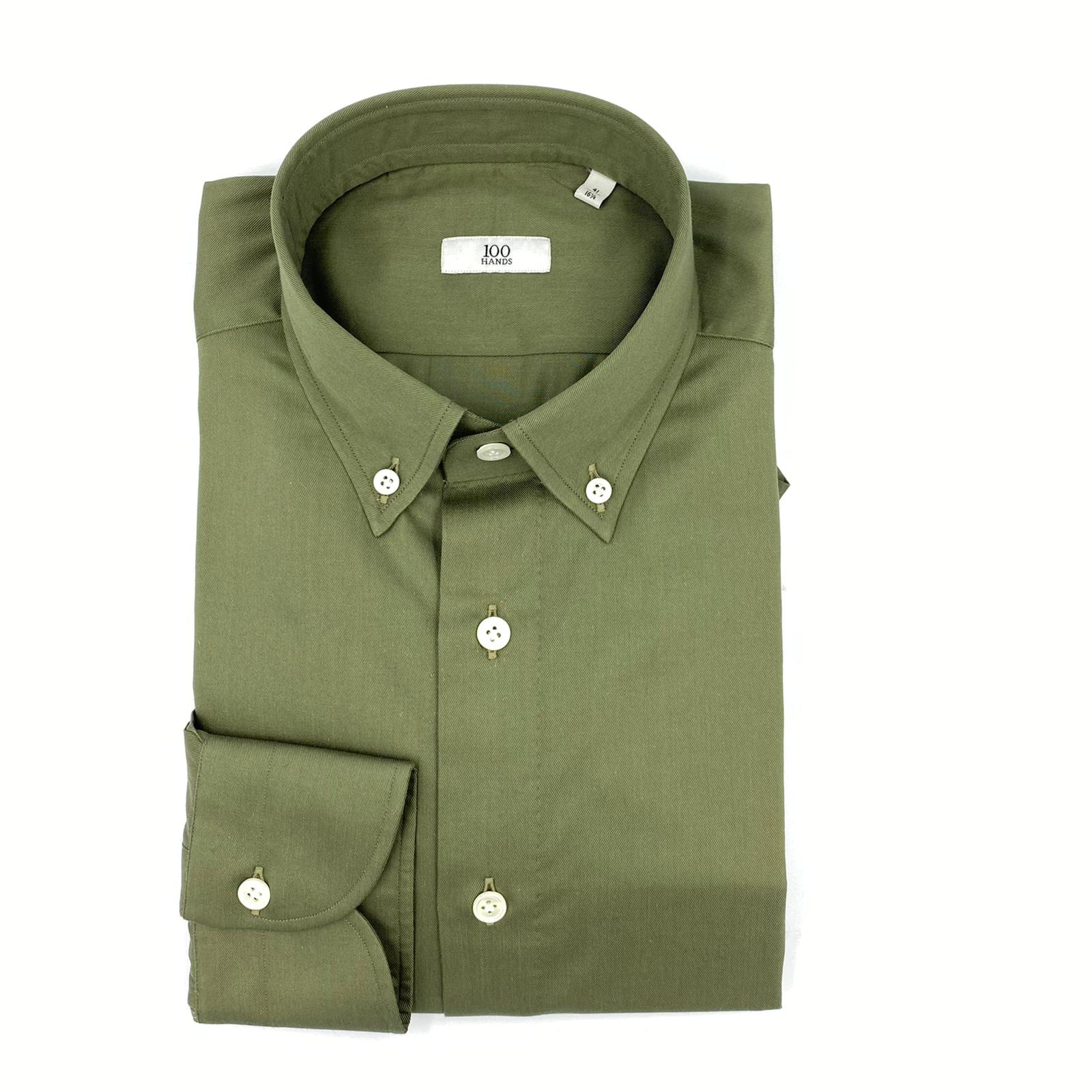 100 Hands Cotton Military Button down