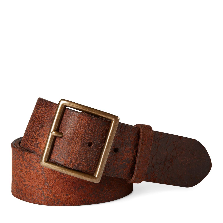 Ralph Lauren RRL Jones Belt Tan