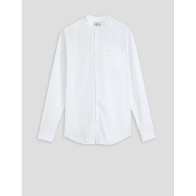 Foto van Dondup Striped cotton shirt with mandarin collar