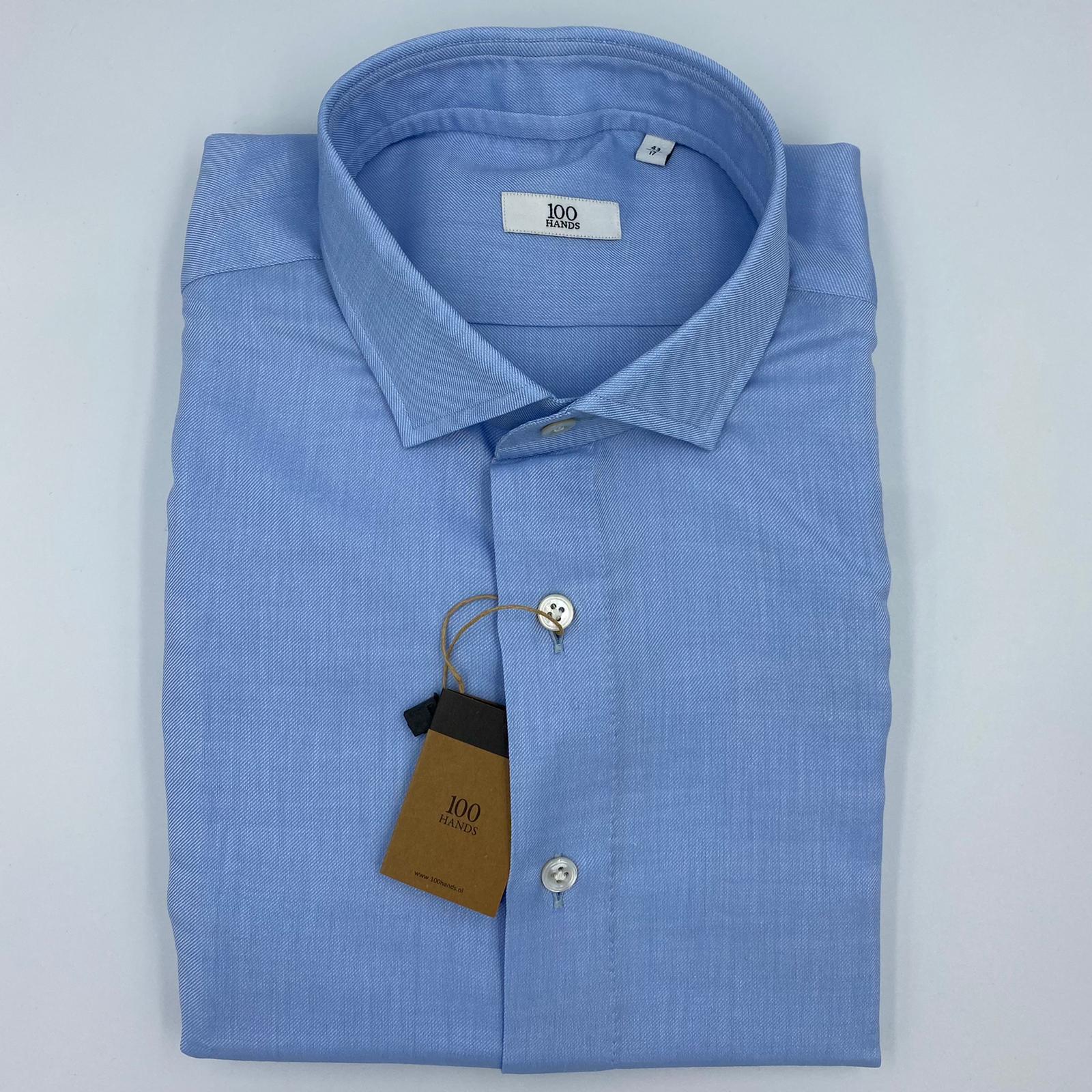 100 Hands Blue Wool Cotton