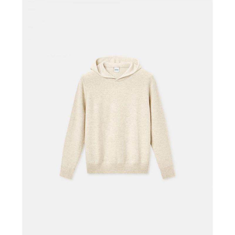 Aspesi Hooded Sweater Natural Cashmere