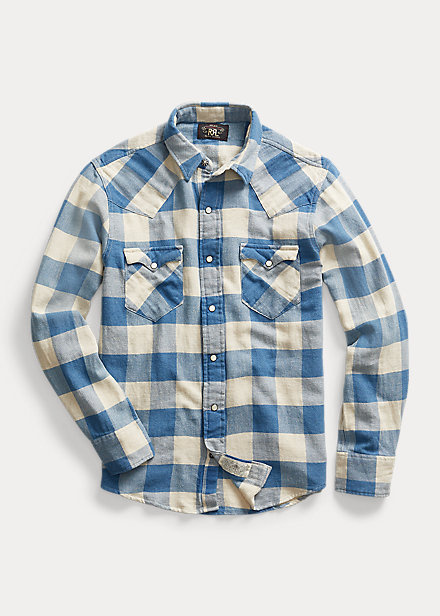 Ralph Lauren RRL Plaid Twill Western Shirt