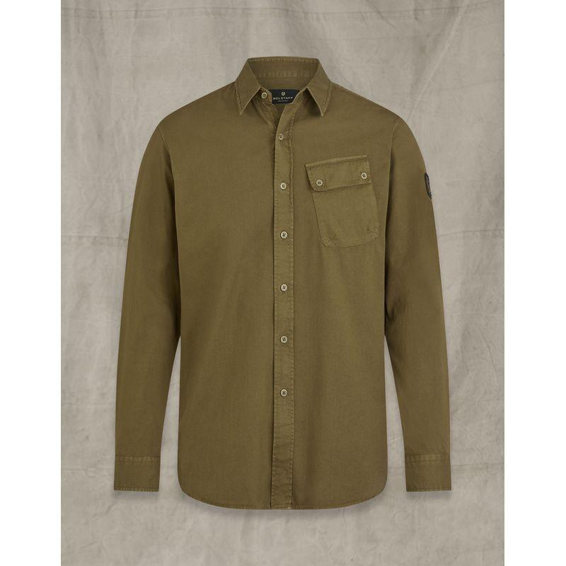Belstaff Pitch twill shirt Salvia