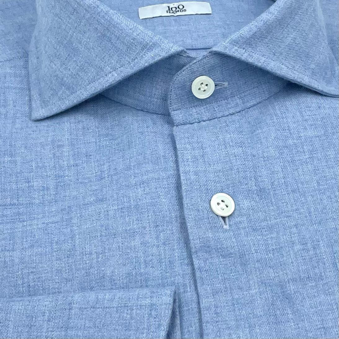 Afbeelding van 100 Hands Cashmere Flannel Sky Blue