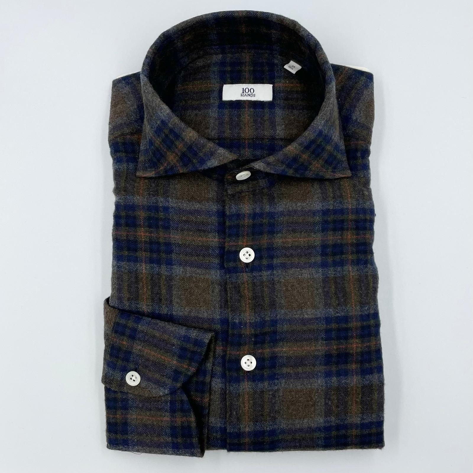 100 Hands Flannel Brown Check