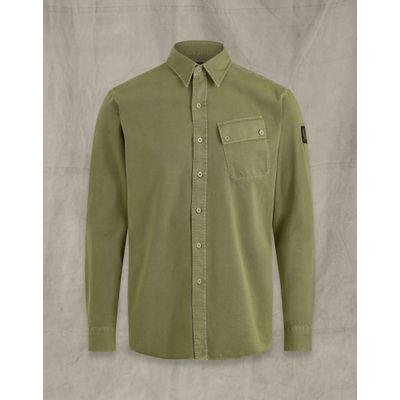 Foto van Belstaff Pitch twill shirt Army Green