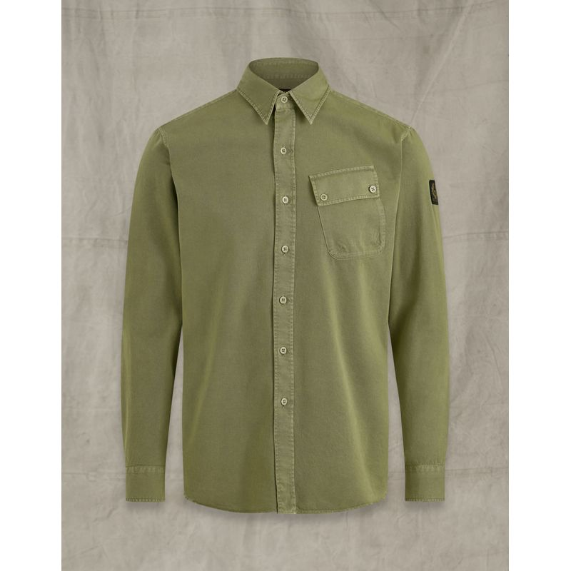 Belstaff Pitch twill shirt Army Green