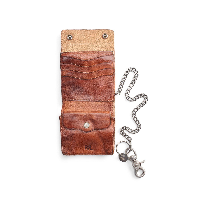 Afbeelding van Ralph Lauren RRL Tumbled Leather Chain Wallet