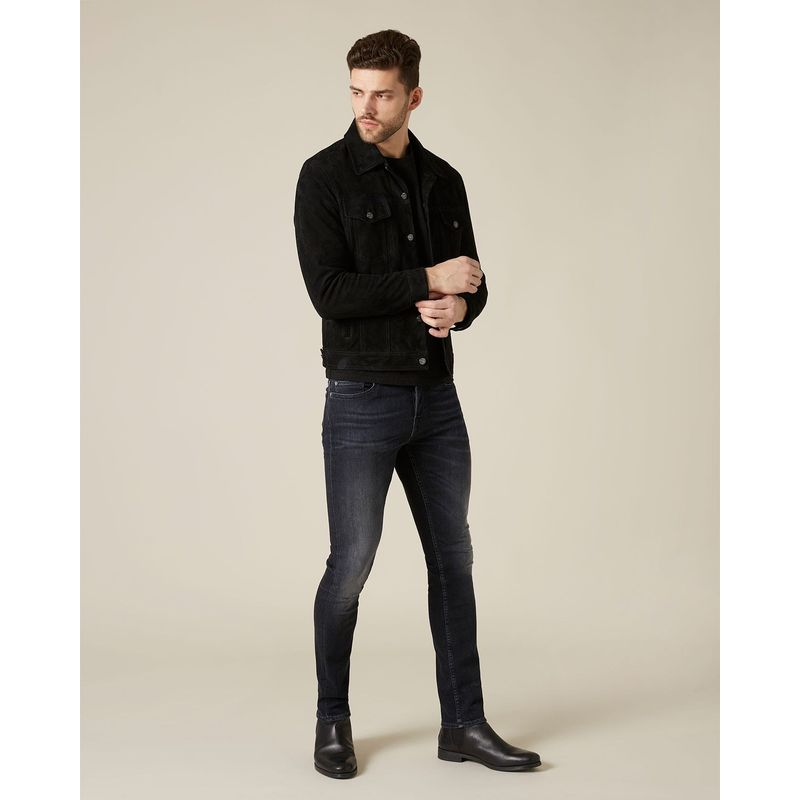 7 For All Mankind Ronnie Tek Delta Black