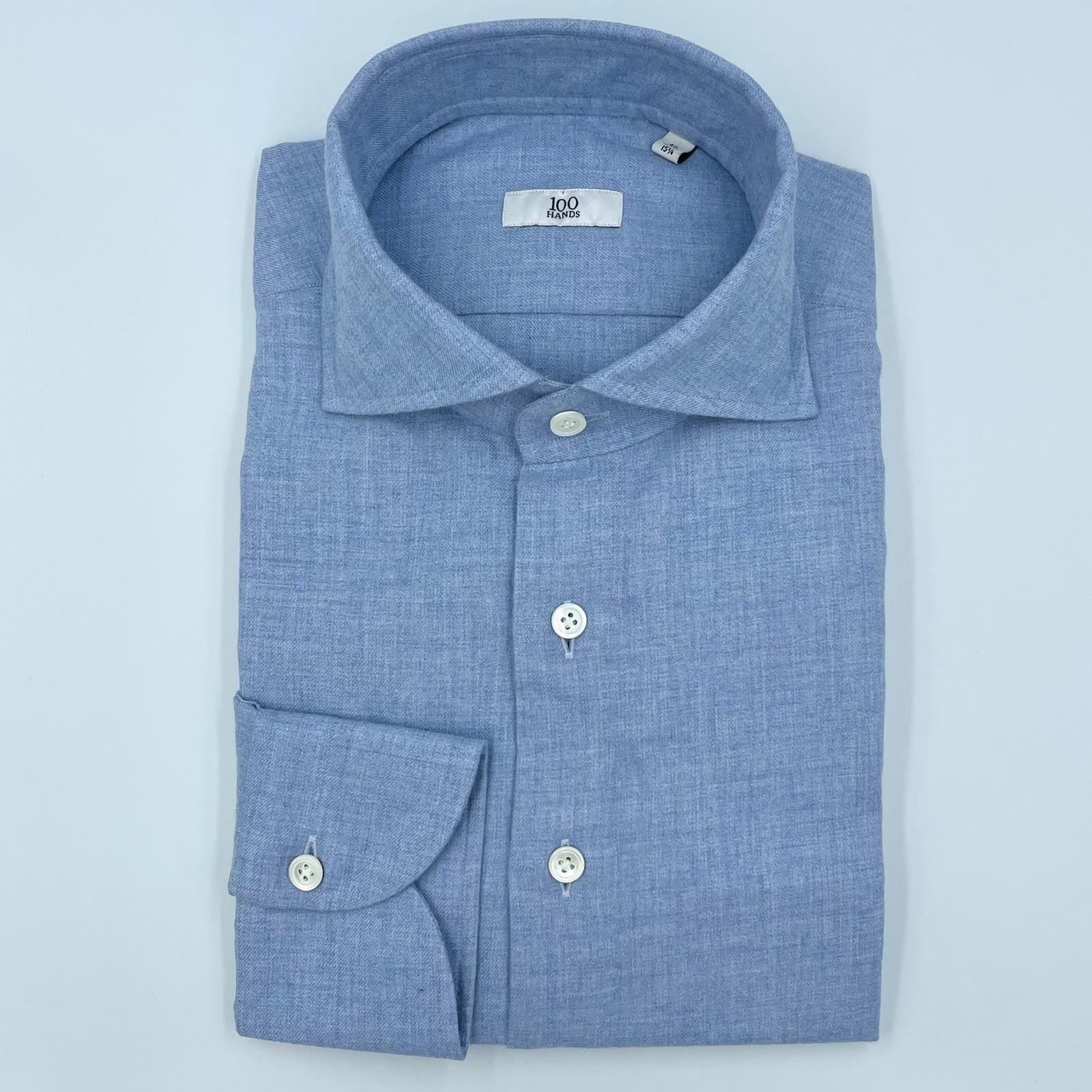 100 Hands Cashmere Flannel Sky Blue