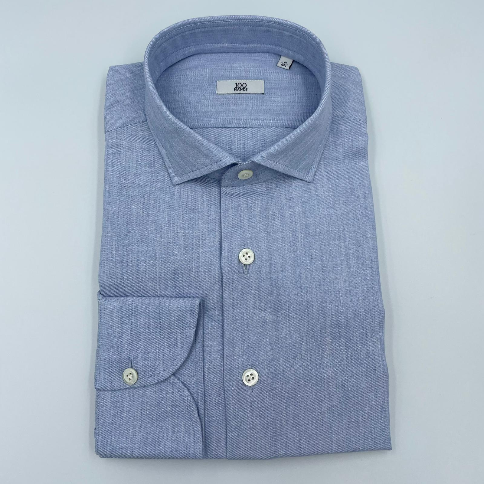 Foto van 100 Hands Light Blue Cotton Shirt