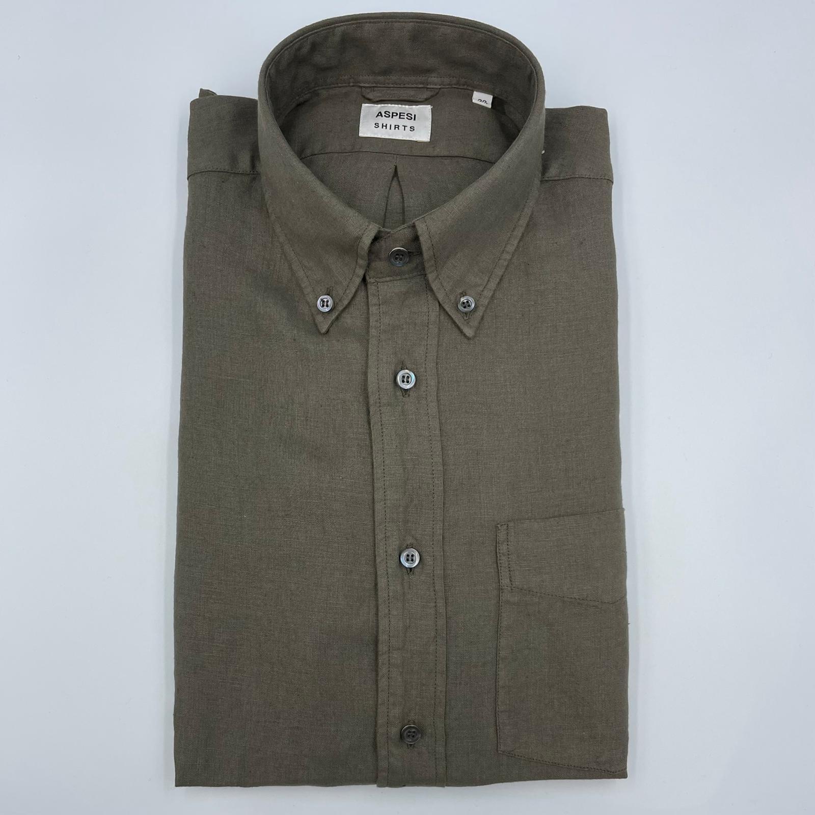 ASPESI Linnen Shirt B.D.Magra Army
