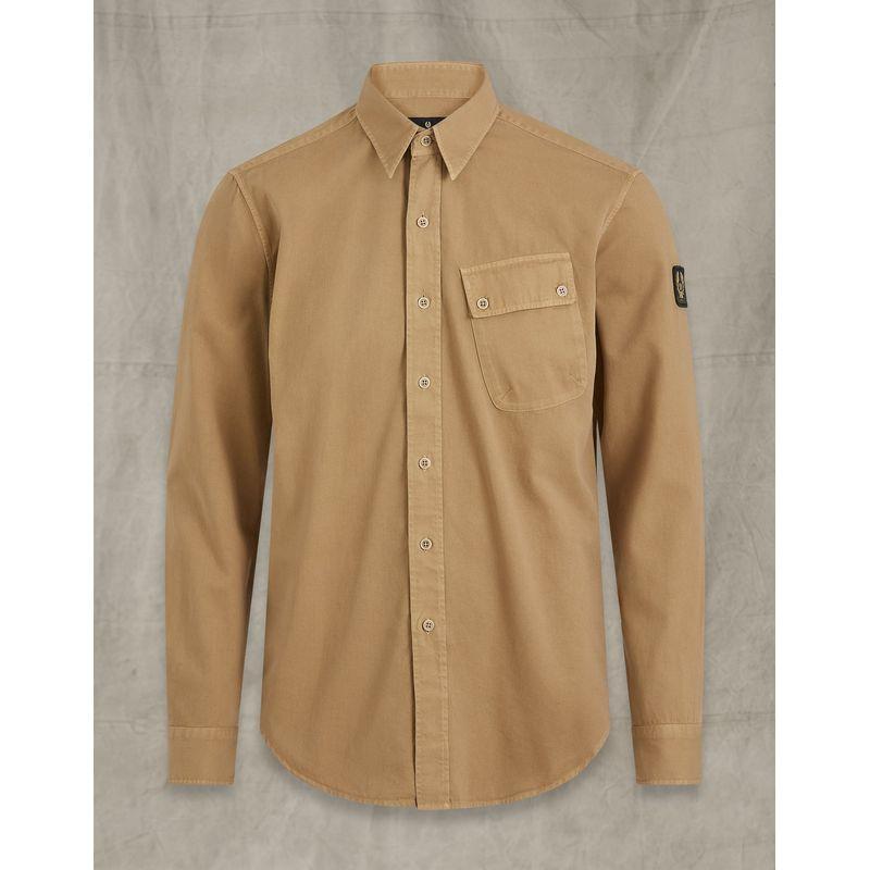 Belstaff Pitch Twill Shirt Vintage Khaki
