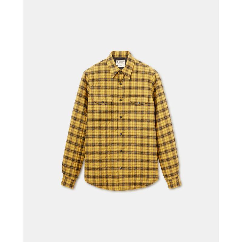 Aspesi Shadow-check cotton shirt