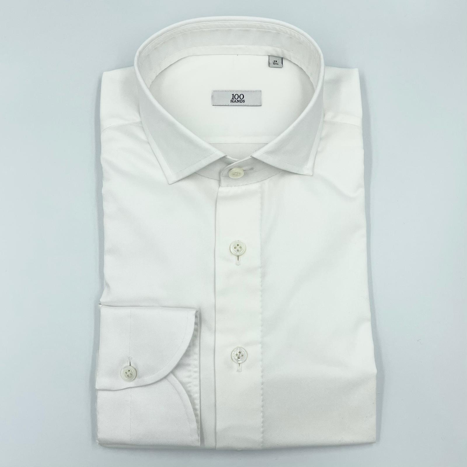 100 Hands White twill shirt