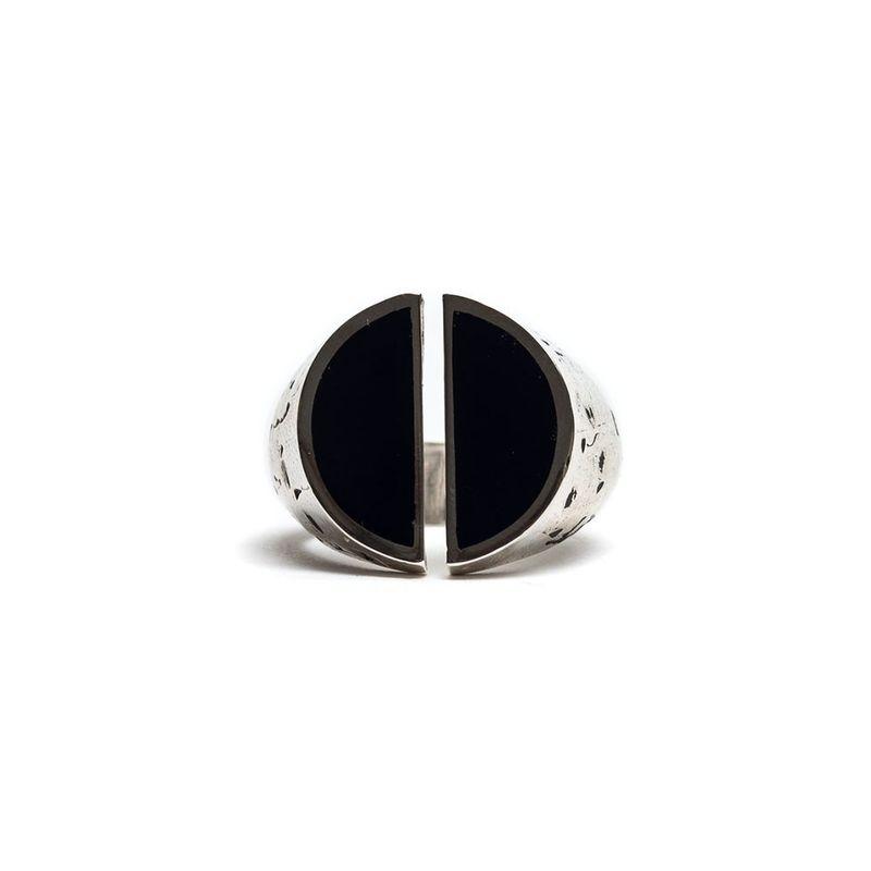 Damico Split Ring Blue Silver