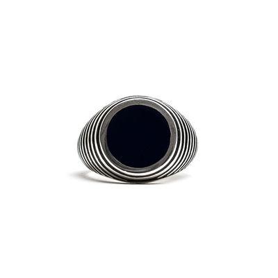 Foto van Damico Black Tegel Ring Silver