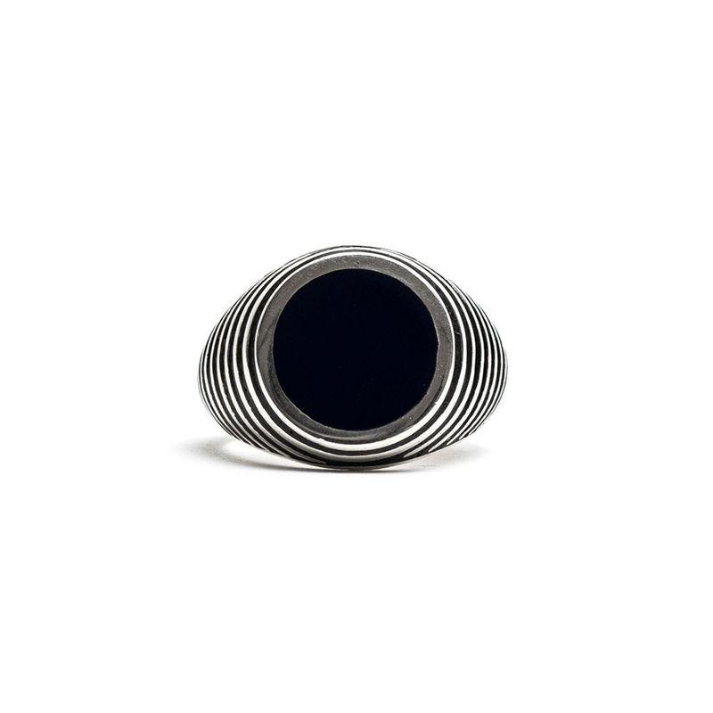 Damico Black Tegel Ring Silver